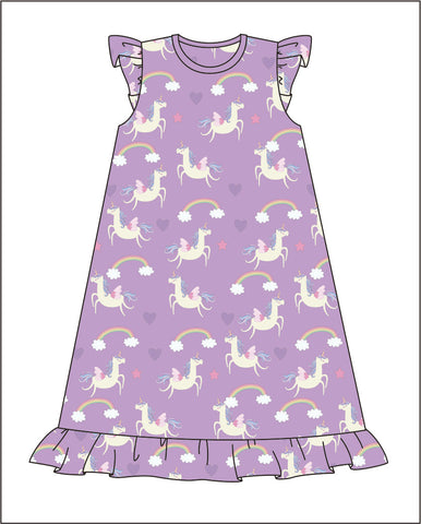 Purple Magical Pajama Gown