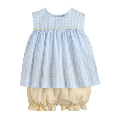 Bellemeade Bloomer Set - Blue/Yellow
