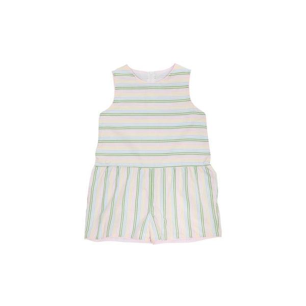 Mae Ryan Romper - Rainbow Row Stripe