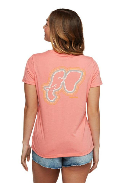 Rainbow Radiate T-Shirt - Shell Pink