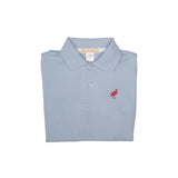 Prim and Proper Polo - Buckhead Blue with Richmond Red Stork