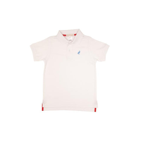 Prim & Proper Polo - White/Sunrise Blvd Blue