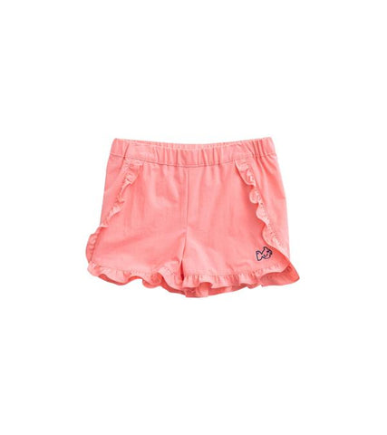 Ruffle Stretch Short - Salmon Rose