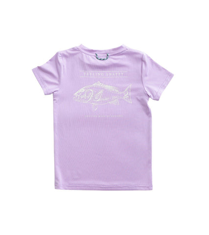 Red Snapper Performance Tee - Taffy Batter (Lavender)