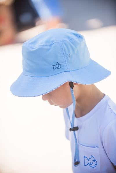 Marina Blue Beach Bum Bucket Hat UPF 50