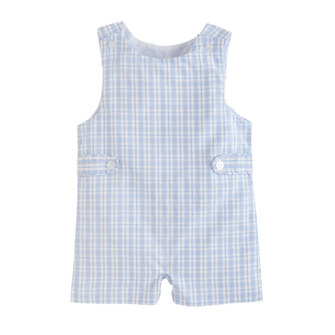Button Tab John John - Light Blue Plaid