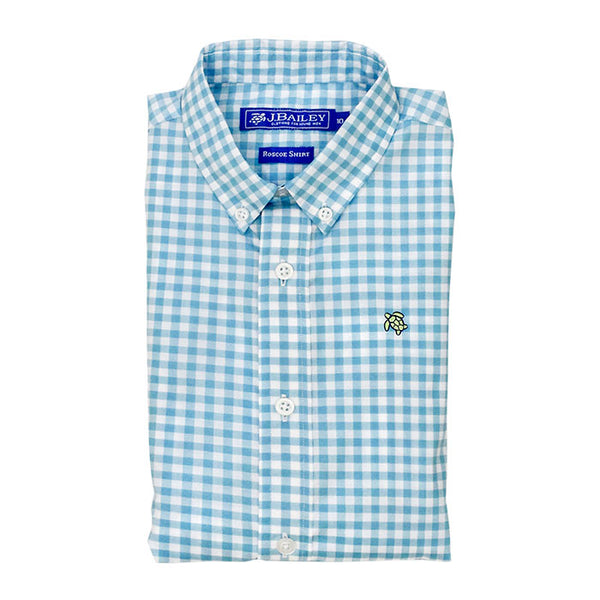 Button Down Shirt - Turquoise Check