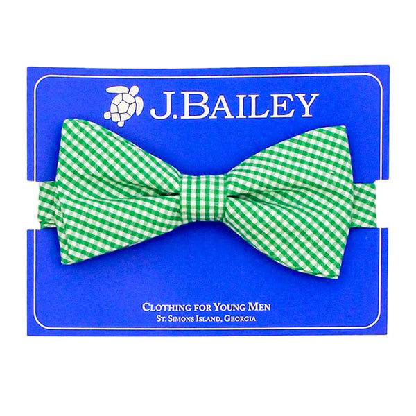 Green Check Bow Tie