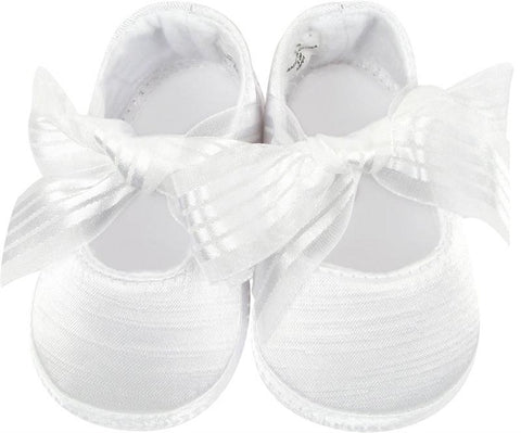 Ballet Crib Shoe w/Ribbon Tie