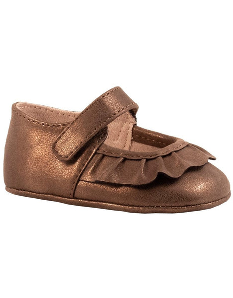 Shimmer Scalloped Mary Jane - Brown