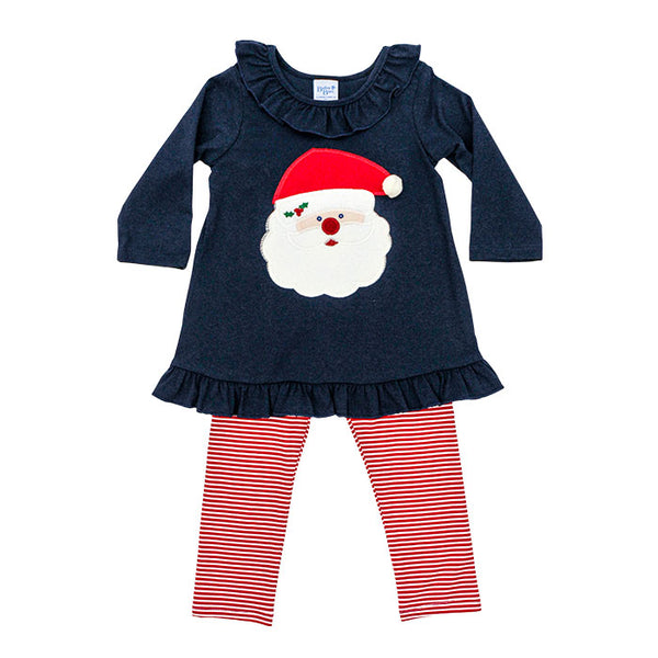 Santa Face Tunic Set