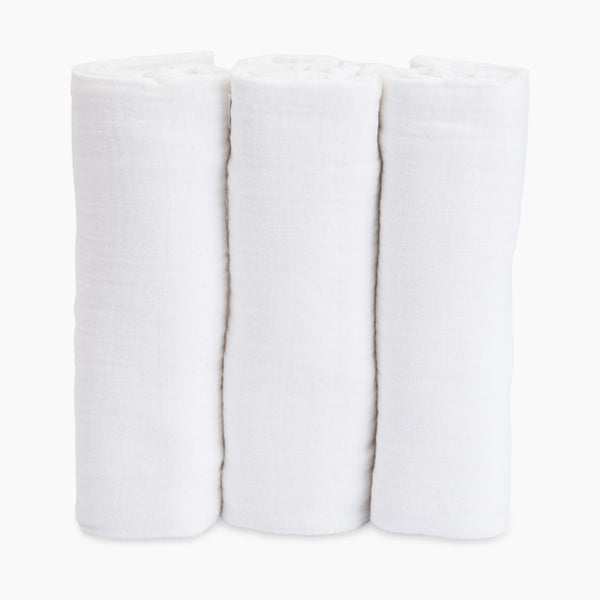 Swaddle 3 Pack - White