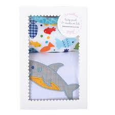 Shark Bib/Burp Set