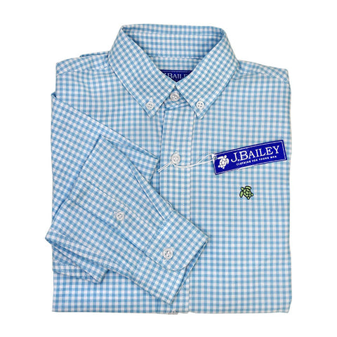 Button Down Shirt - Berry Blue Check