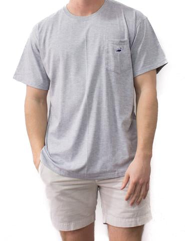 Embroidered Tee - Heather Gray