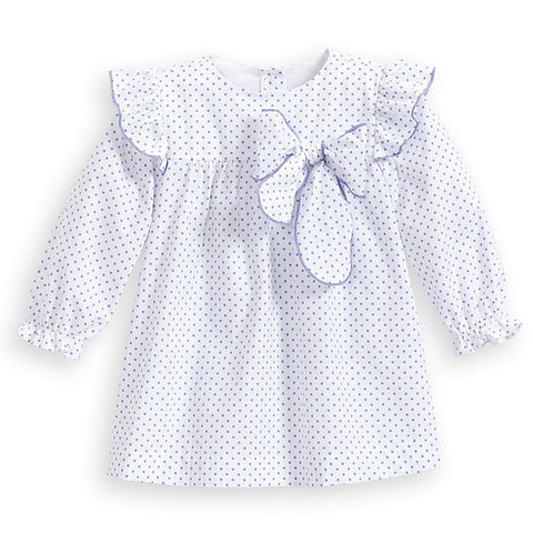 Marilyn Dress - Periwinkle Dot