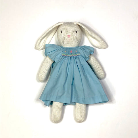 Bunny with Matching Dress (Blue Smocked)