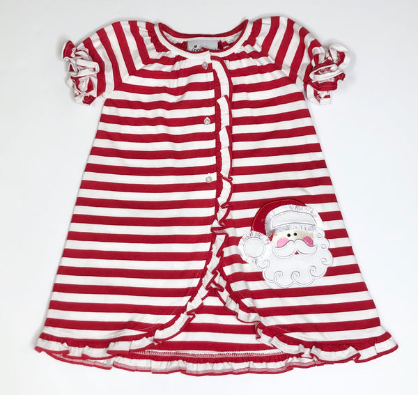 Red/White Stripe Knit Santa Day Gown