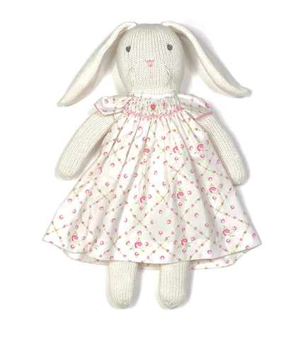 Bunny with Matching Dress (White/Pink)