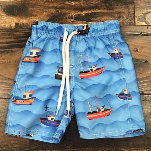 Fishing Boats Trunk - Blue