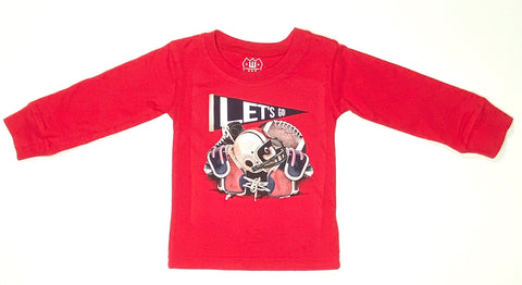 Football Equipment LS Tee - Cherry