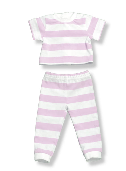 "18"" Doll Striped PJs - Lavender"