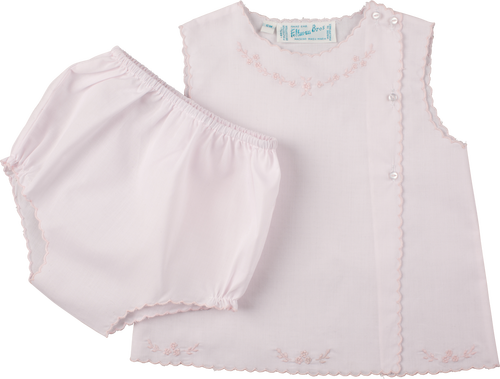 Pink Diaper Set with Pink Embroidery