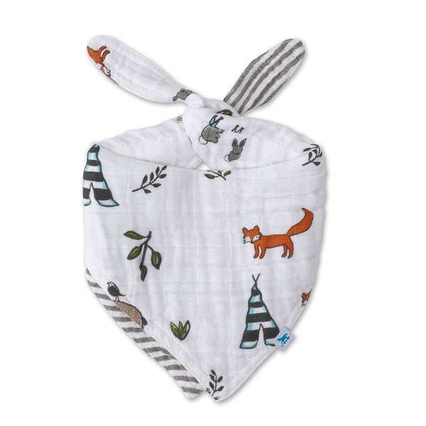 Reversible Bandana Bib - Forest Friends