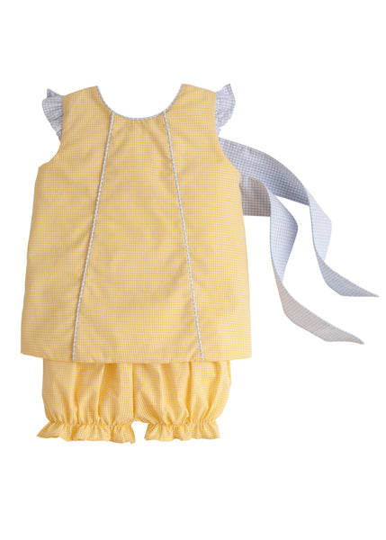 Yellow Bow Back Bloomer Set