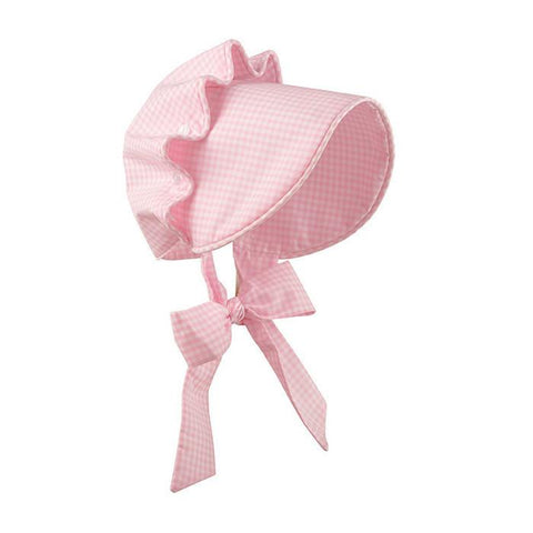 Beaufort Bonnet - Pink Greenbrier Gingham