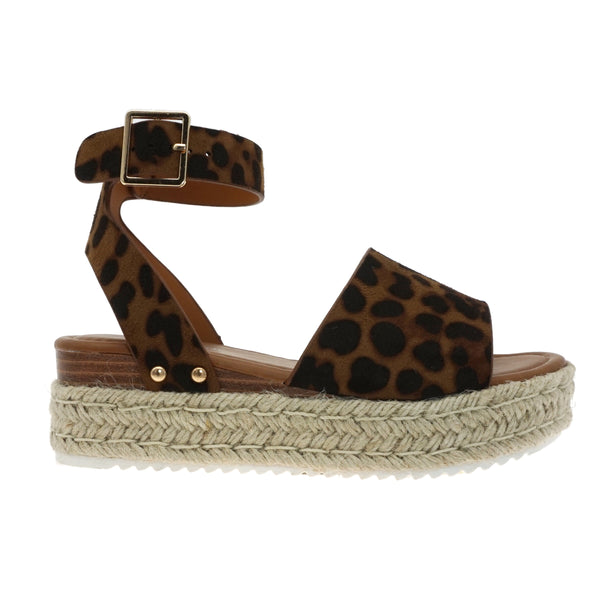 Suede Leopard Wedge