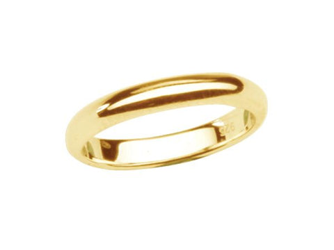 Gold Plated 2mm Baby Ring