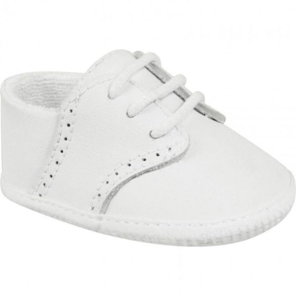 Leather Saddle Oxford Crib Shoe