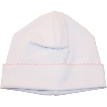 Basic Hat - White with Pink