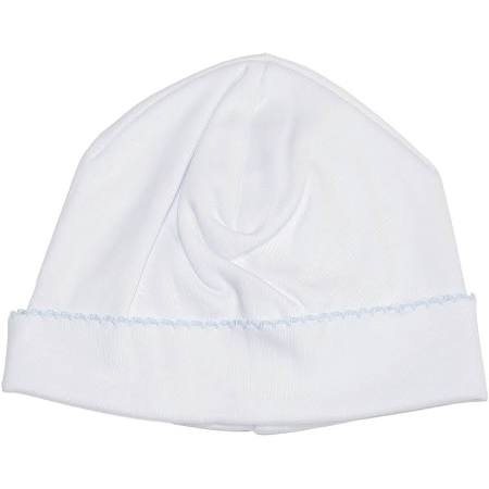 Basic Hat - White and Light Blue