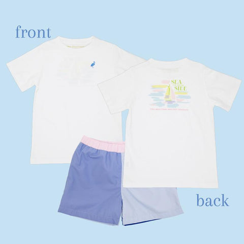 Sir Proper T-Shirt - White w/ Sailboat