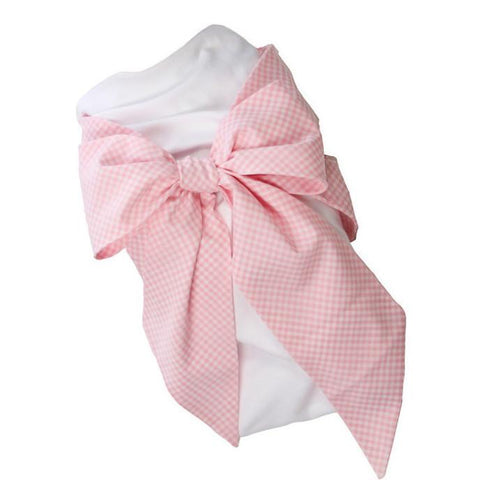 Bow Swaddle - Pink Greenbrier Gingham