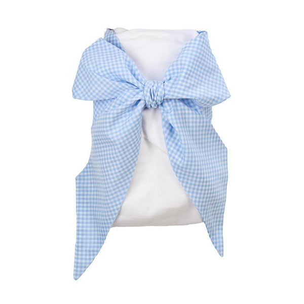 Bow Swaddle - Blue Gasparilla Gingham