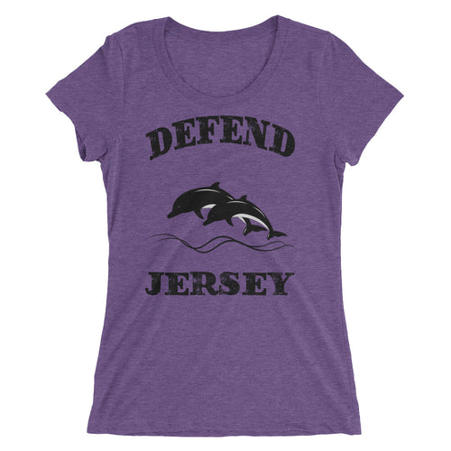 Defend Jersey Dolphins Ladies' short sleeve t-shirt w/Black Design