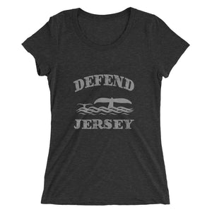 Defend Jersey Whales Ladies' short sleeve t-shirt w/Gray Design