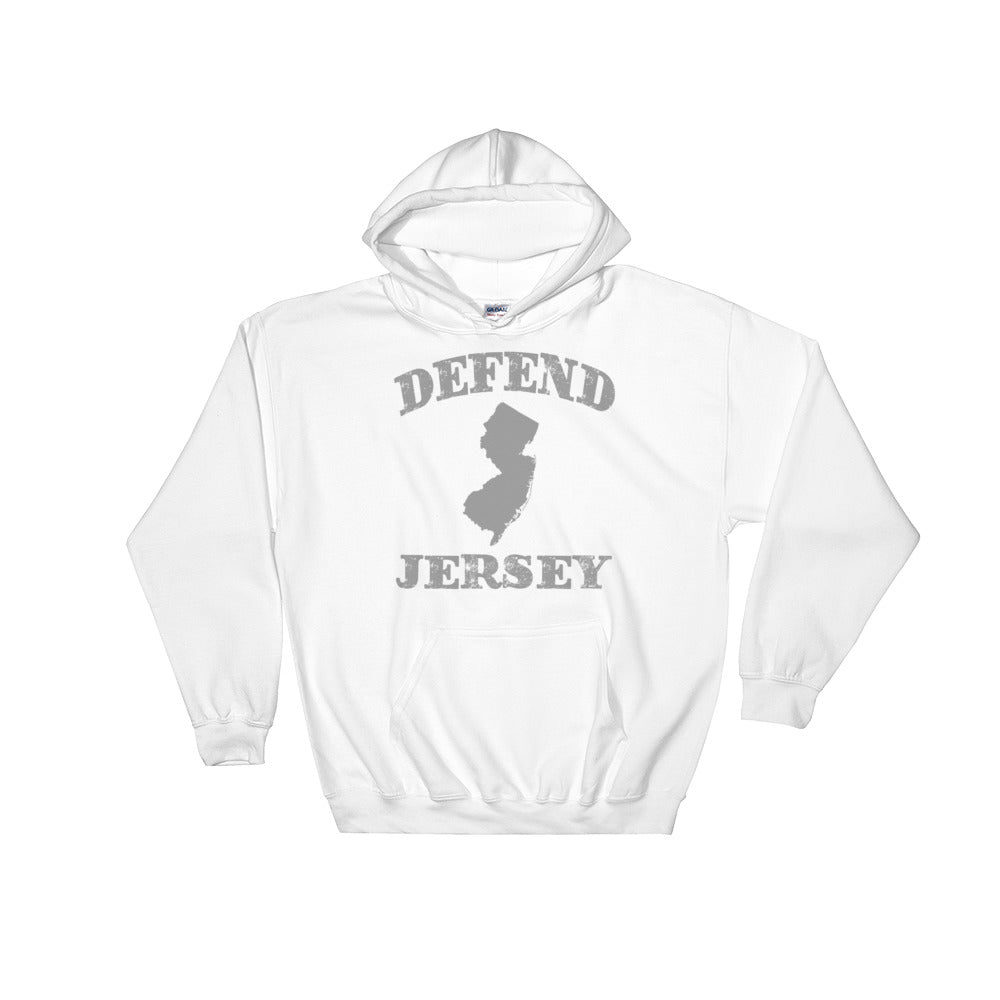 Defend Jersey State Hooded Sweatshirt w/Gray Design