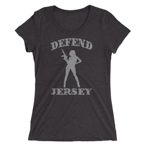 Defend Jersey Beauty Ladies' short sleeve t-shirt w/Gray Design
