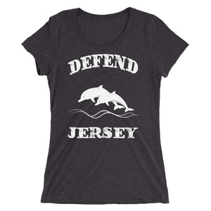 Defend Jersey Dolphins Ladies' short sleeve t-shirt w/White Design