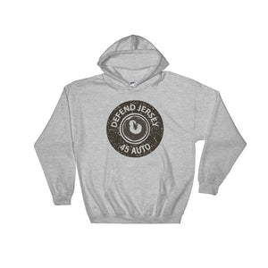Defend Jersey Bullet Hooded Sweatshirt w/Black Design