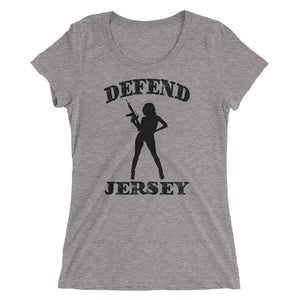 Defend Jersey Beauty Ladies' short sleeve t-shirt w/Black Design