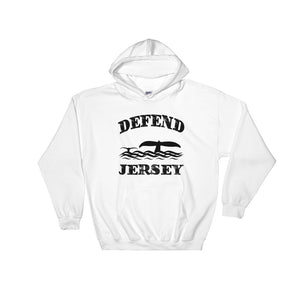 Defend Jersey Whales Hooded Sweatshirt w/Black Design
