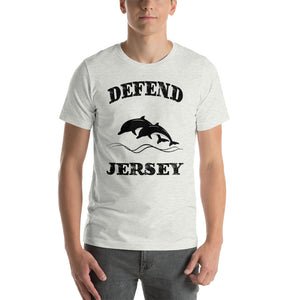 Defend Jersey Dolphins Short-Sleeve Unisex T-Shirt w/Black Design