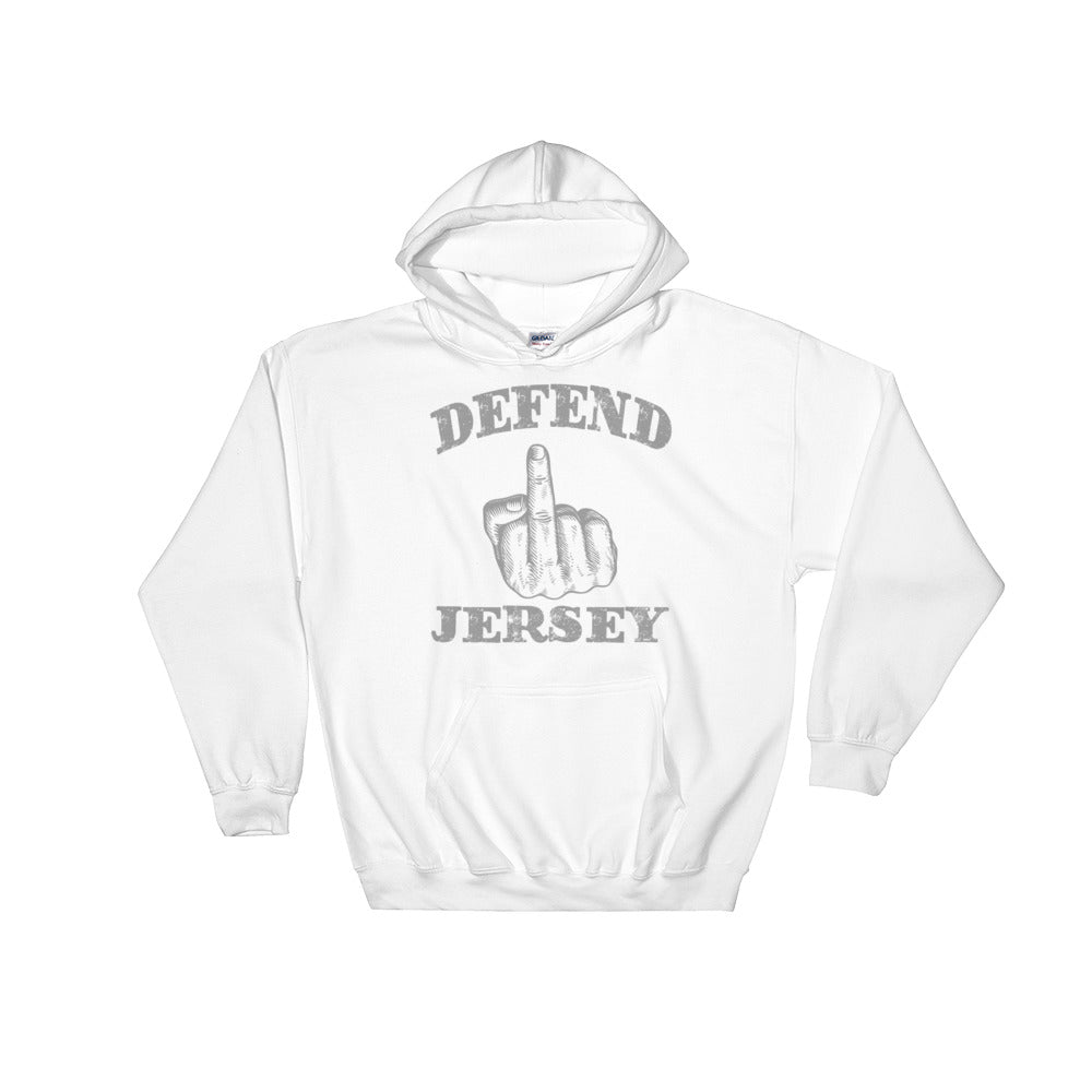 Defend Jersey Finger Hooded Sweatshirt w/Gray Design