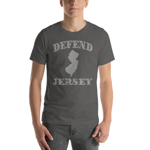 Defend Jersey State Short-Sleeve Unisex T-Shirt w/Gray Design