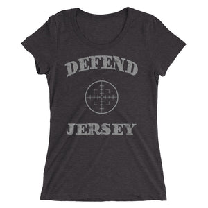 Defend Jersey Scope Ladies' short sleeve t-shirt w/Gray Design